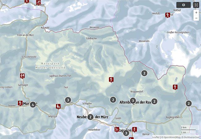 Hochsteiermark Karte