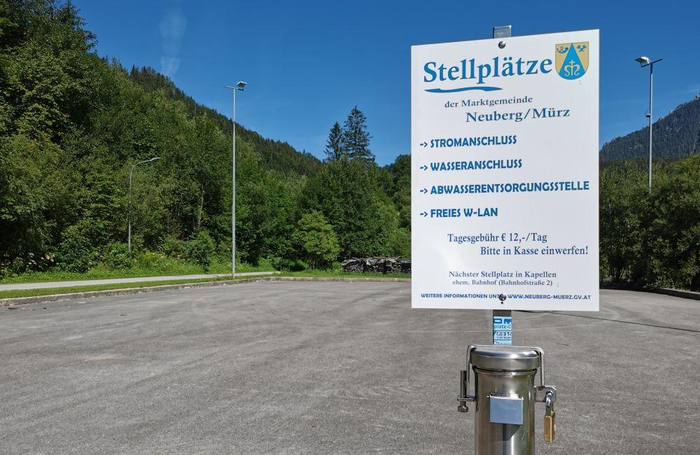 Wohnmobilstellplätze in Neuberg an der Mürz